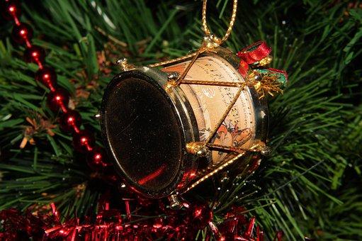 Drum, Tannenbaumschmuk, Christmas, Contemplative