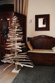 Fir Wood Float, Wooden Decoration, Christmas Decoration