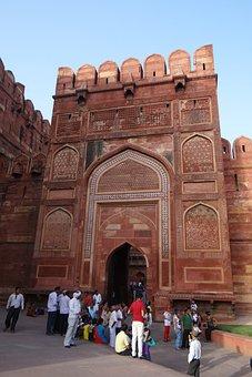 Agra Fort, Unesco Site, Castle, Inside Gate
