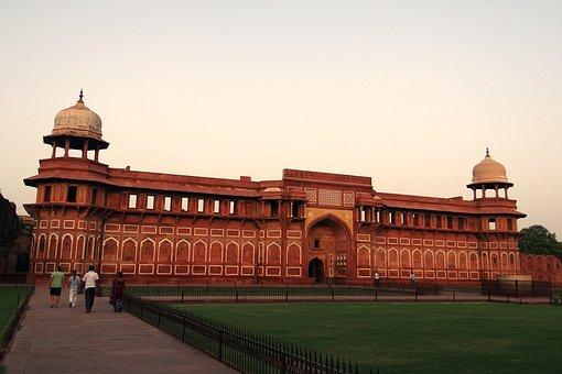 Jahangir Mahal, Pink Sandstone, Agra Fort, Agra, India