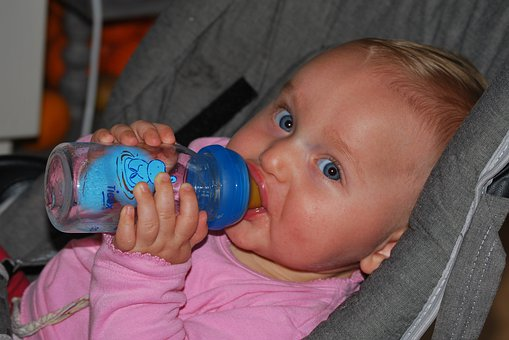 Baby, Drinking, People, Child, Drink Bottle