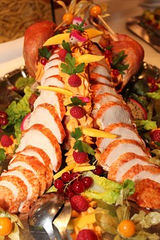 Turkey, Carving, Buffet, Salad, Cold Buffet, Delicacy