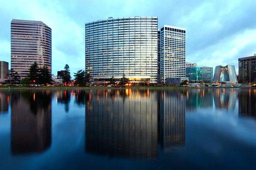 Oakland, California, Sky, Clouds, City, Cities, Urban
