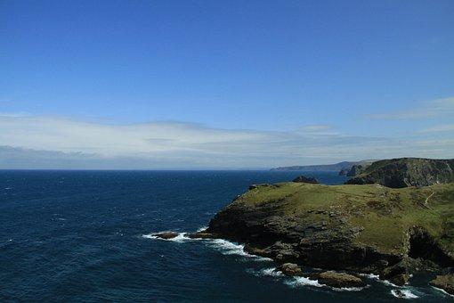 Coastal Scenery, Sea, Celtic Sea, England, Cornwall