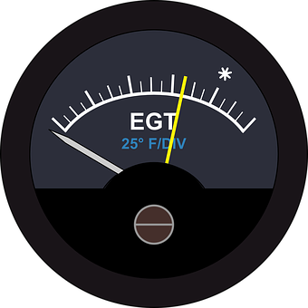 Exhaust Gas Temperature Gauge, Egt Gauge