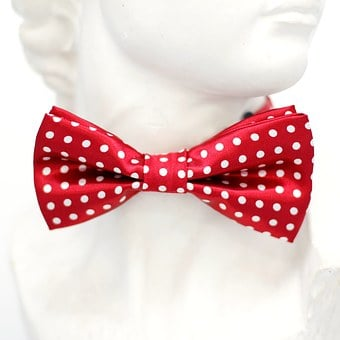 Red, White, Points, Fly, Tie, Loop, Fashion, Man