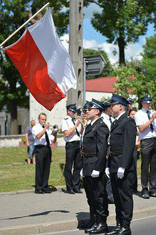 Polish Flag, The Ceremony, Flag, Fire Department