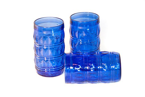 Drinking Glasses, Glass, Blue, Cup, Glasses, Cups