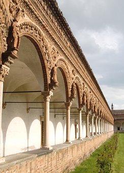 Pavia, Monastery, Cloister, Italy, Architecture