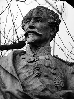 Bust, Monument, General, Chanzy, Saint-maixent, 1870
