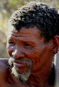 San Man, Bushman, Old Man, Wrinkled, Namibia