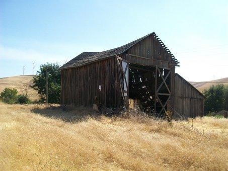 Barn, Shed, Cabin, Nature, Wooden, Summer Field, Grass