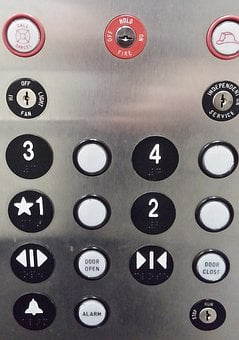 Elevator Buttons, Elevator, Buttons, Panel, Press, Push