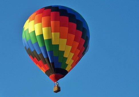 Hot Air Balloon, Festival, Fun, Aircraft, Yellow, Red