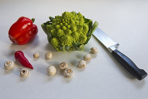 Romanesca Cauliflower, Red Pepper, Red Chile