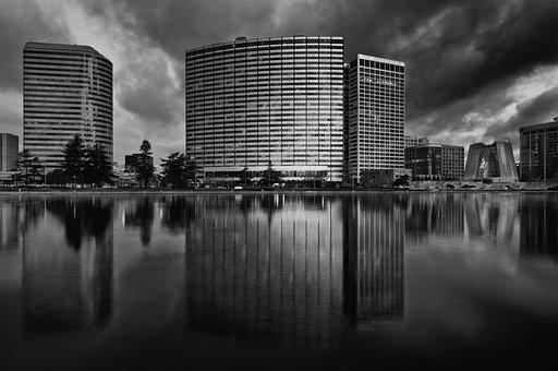Oakland, California, Lake, Water, Reflections