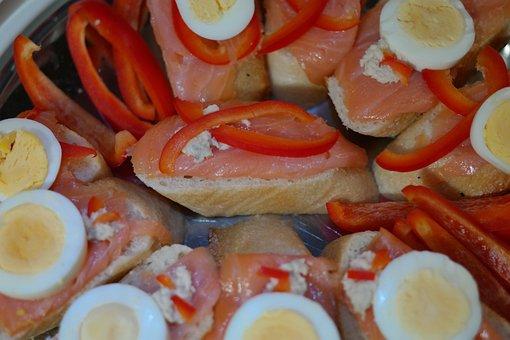 Salmon Bun, Delicious, Snack, Cold Buffet, Buffet