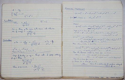 School, Book, Maths, Algebra, Binomial Theorem, Theorem