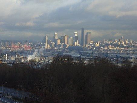 City Scape, Seattle, Skyline, Washington, City, Scape