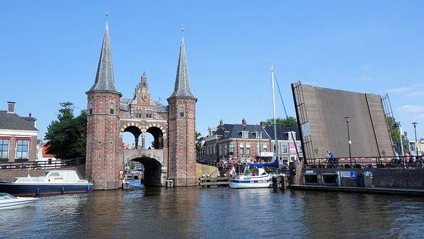 Sneek, Watergate, Water Tower, Friesland