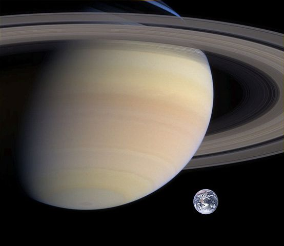 Saturn, Planet, Earth, Size Comparison, Ring, Space