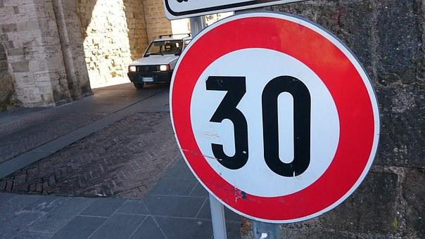 Speed, Limit, Roadsign, Car, Street, Sign, Symbol, Slow
