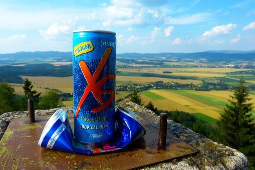 Energy Drink, Box, Landscape, Top