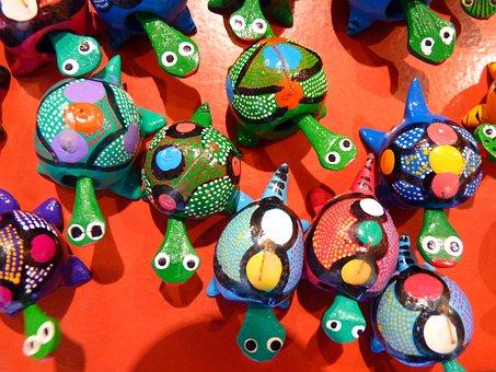 Turtle, Colorful, Pumpkin, Wobbly Turtle