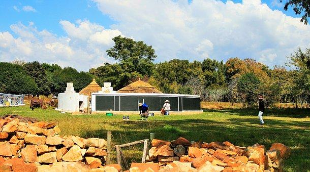 House, Pretoria, Black, Preparing, Venda Patterns