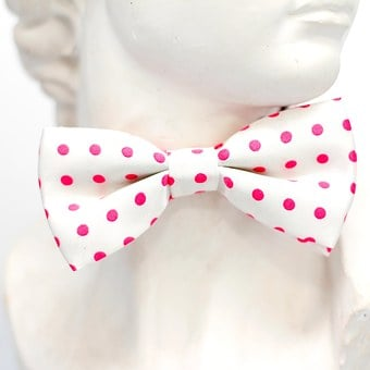 Pink, White, Points, Fly, Tie, Loop, Fashion, Man