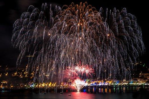 Fireworks, National Holiday, 14 July, Armistice, South