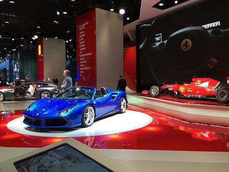 Ferrari, 458, Italia, Spider, Blue, Horse, Stallion