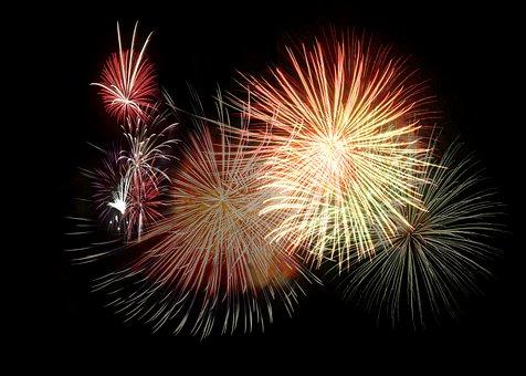 Artifice, Fire, Fireworks, 14 July, Summer, Festival