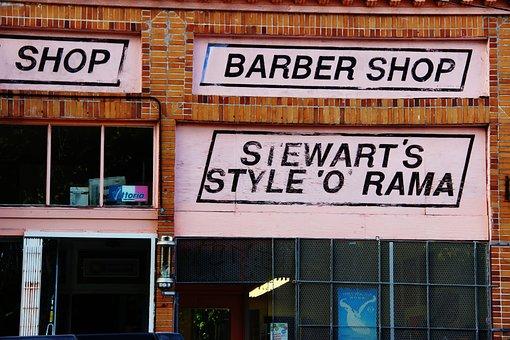 Shop, Barber, Street, Urban, Barber Shop, Barbershop