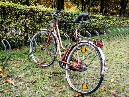 Munich, Bicycle, Broken, Old, Vintage, Loneliness