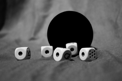 Dice, Game, Aces, Goblet, Dice Game, Random, Black