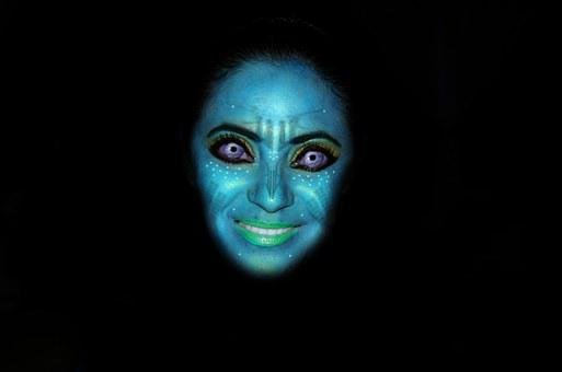 Avatar, Mask, Face, Blue, Women, Look, Blue Face