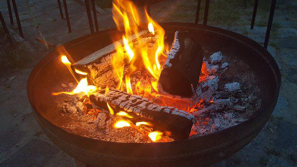 Fire, Campfire, Burn, Wood, Flame, Lighting, Barbecue