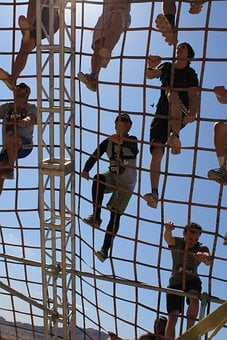 Climbing, Cargo Net, Challenge, Athletic, Obstacle