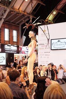 Hairshow, Event, Latex, Catwalk, Ramp, Hair, Spectators