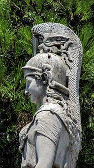 Athena, Greek, Goddess, Monument, Classic, Sculpture
