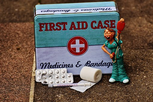 First Aid, Nurse, Funny, Box, Tin Can, Sheet, Color
