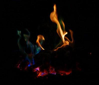 Fire, Colorful, Embers, Color, Surreal, Flamen, Flame