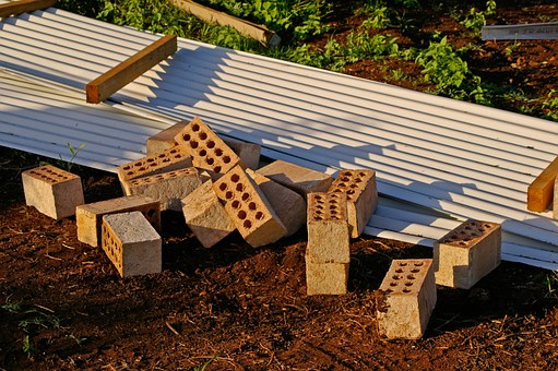 Bricks, Roofing, House Building, Ground, Construction