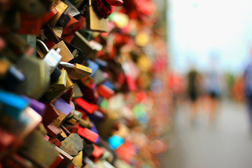 Padlocks, Bridge, Railing, Couples, In Love, Padlock