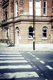 Zebra Crossing, Crossing, Road, Architecture