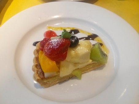 Fresh Fruit Tart, Cake, Cute, Foppery