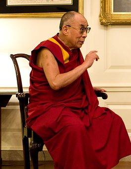 Dalai Lama, Portrait, Discussion, Smile, Chart Room