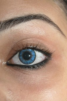 Contact Lens, Eye, Lens, Blue, Girl, Eyeball, Look