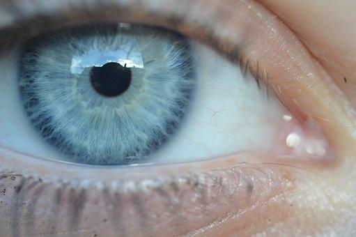 Eye, Blue, Pupil, Eyelashes, Color, Color Transition